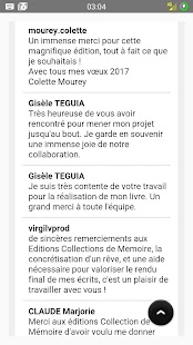 Editions Collections Mémoire Capture d'écran