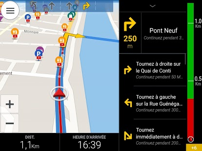 CoPilot France GPS Navigation Capture d'écran