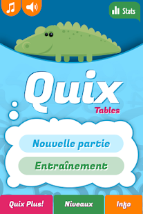 Quix Tables de multiplication Capture d'écran