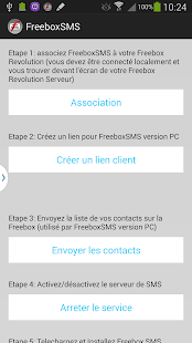 Freebox SMS Capture d'écran