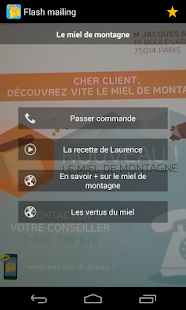 Flash mailing Capture d'écran