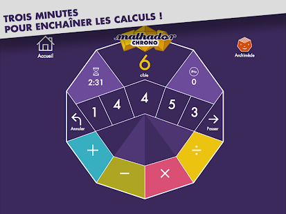 Mathador Chrono calcul mental Capture d'écran