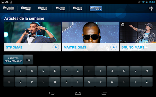 M6 Music Player Capture d'écran
