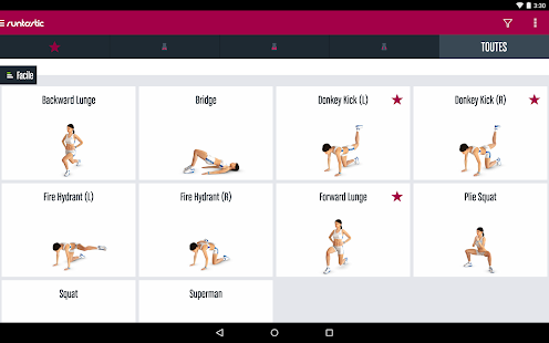 Runtastic Butt Trainer Musculation Fessiers Capture d'écran