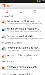 Microsoft Office Mobile Capture d'écran
