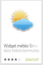 Widget météo Smart Extras™