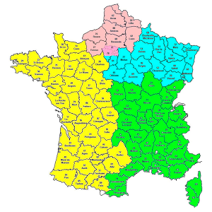 Codes postaux France