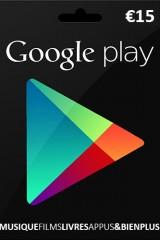 1 carte Google Play 15 euros à gagner