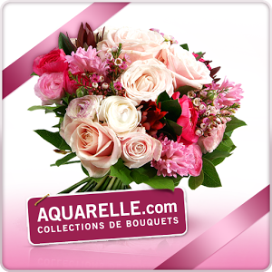 Aquarelle livraison de fleurs