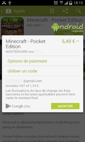 Paypal en moyen de paiement sur le Google Play Store