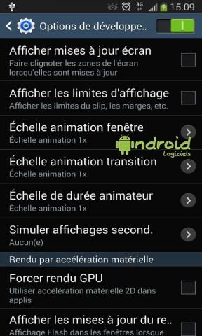 Activer le menu Développeur sur Android 4.3