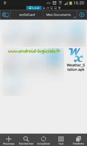 Installer une application manuellement