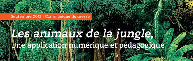 Les animaux de la jungle, une application numérique et pédagogique