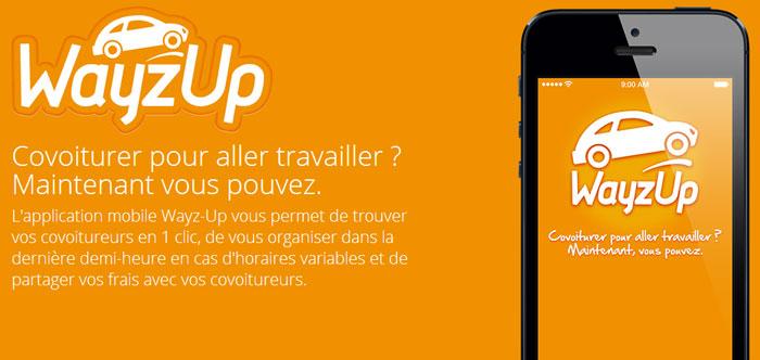 Wayz-Up : L'appli mobile du covoiturage domicile-travail
