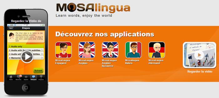 Les applications Mosalingua arrivent sur les Tablettes