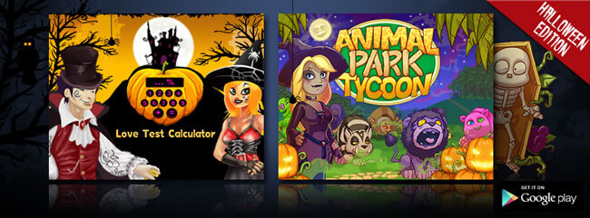 C'est AMA-lloween avec Animal Park Tycoon et Love Test Calculator !
