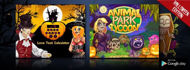 C'est AMA-lloween avec Animal Park Tycoon et Love Test Calculator !