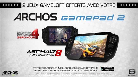 Gameloft annonce deux de ses titres les plus populaires optimisés et gratuits pour l'Archos GamePad 2