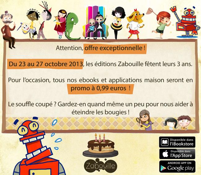 Grande promotion des éditions Zabouille