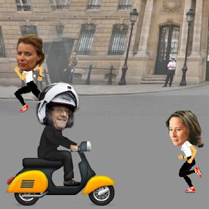 Aidez François Hollande à rejoindre Julie sans se faire prendre !