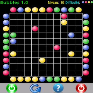 Bubbles est un jeu de logique où vous devez nettoyer une grille de bulles en les faisant éclater.