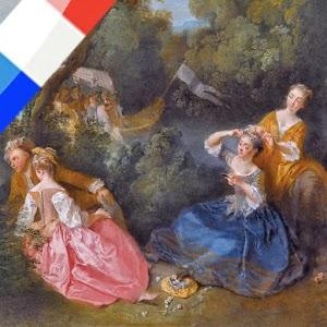 """L'application officielle de l'exposition """"De Watteau à Fragonard, les fêtes galantes"""", vous propose une visite guidée grâce aux commentaires audio d'une vingtaine d'œuvres d'art."""