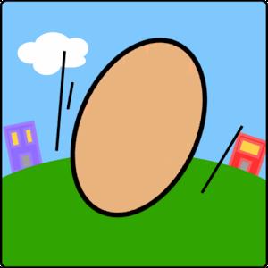 Eggy s'est fixé comme objectif de parcourir le monde entier en rebondissant sur des briques.