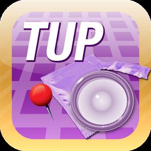 TUP est une application permettant de se géolocaliser pour trouver le point de vente de préservatifs le plus proche de soi (Pharmacies, Tabac/Presse, Supermarchés).