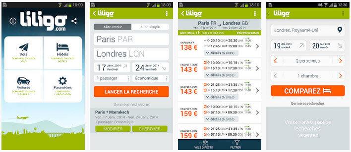 Préparer vos vacances en deux clics avec l'application liligo.com