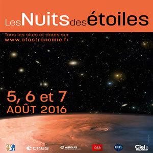 Les nuits des étoiles – Edition 2016