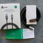 Test du câble de données et de charge USB C à USB A 3.0 Aukey