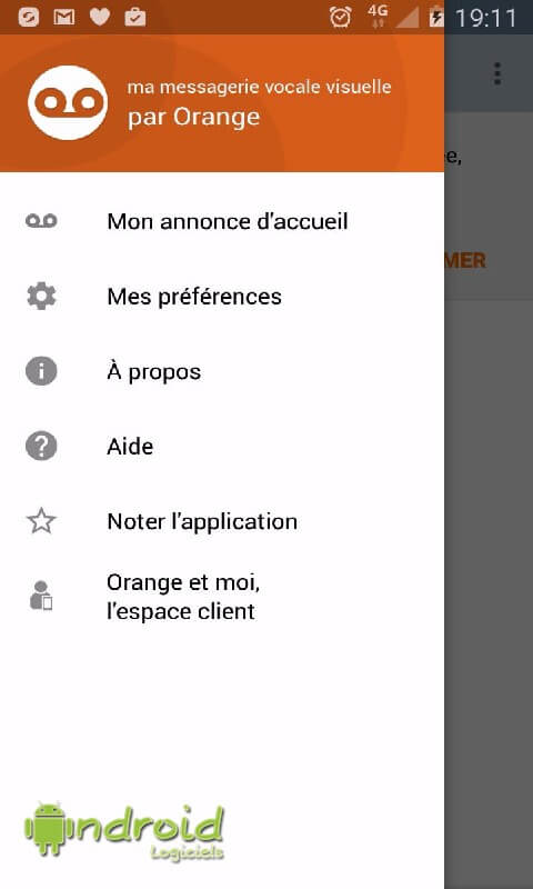 Messagerie vocale visuelle Orangerange11
