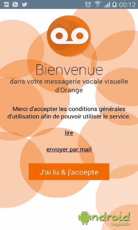 Messagerie vocale visuelle Orange