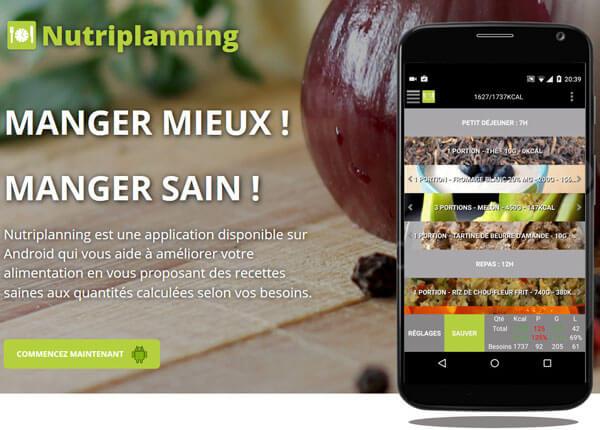 Lancement de l'application de nutrition NutriPlanning