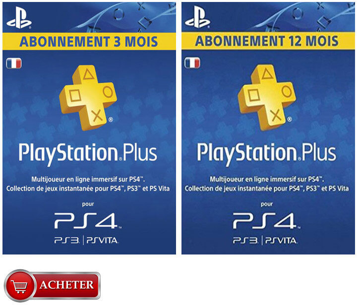 Cartes Playstation Plus France