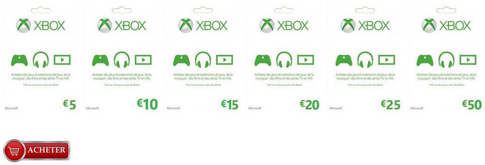 Cartes Xbox