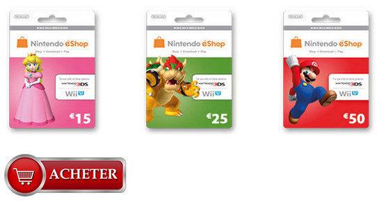 Cartes eShop Nitendo