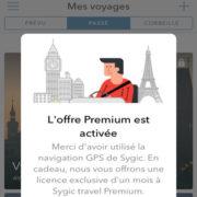 Bénéficiez d'une licence d'un mois gratuit à Sygic Travel Premium