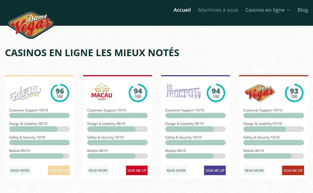 Découvrez DameVegas.fr le tout nouveau portail de référencement des meilleurs casinos en ligne