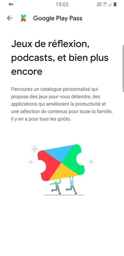 Google Play Pass – Abonnement jeux et applications pour 4,99 euros par mois