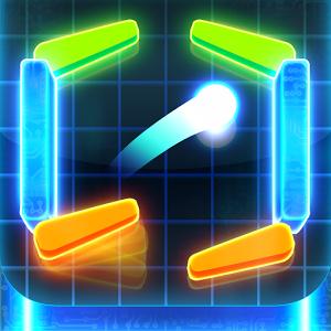 Dans ce jeu de flipper moderne et addictif affrontez l'ordinateur ou votre ami sur le même appareil !
